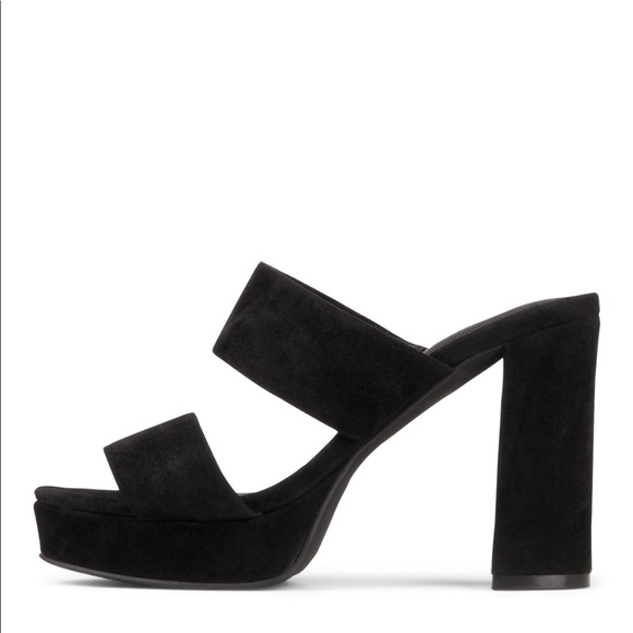 22305481bb77 Jeffrey Campbell Adriana Suede Platform Sandal 9.5